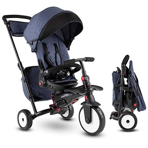 SmarTrike Tricicleta pliabila 7w1 STR7 Vibe Folding Toddler de la 6 luni, Bleumarin [0]