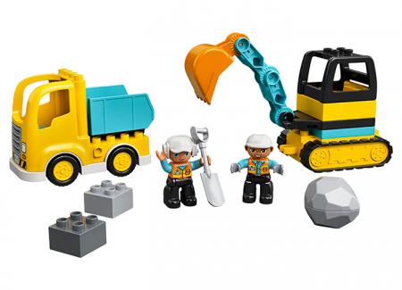10931 LEGO® DUPLO® : Camion si excavator pe senile5
