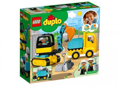 10931 LEGO® DUPLO® : Camion si excavator pe senile1