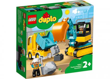 10931 LEGO® DUPLO® : Camion si excavator pe senile0