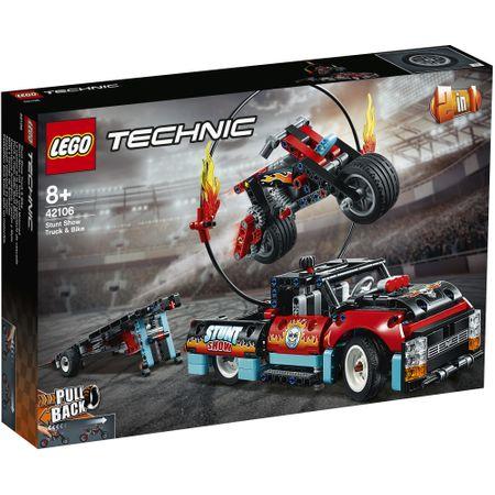 LEGO® Technic: Camion si motocicleta pentru cascadorii 421060