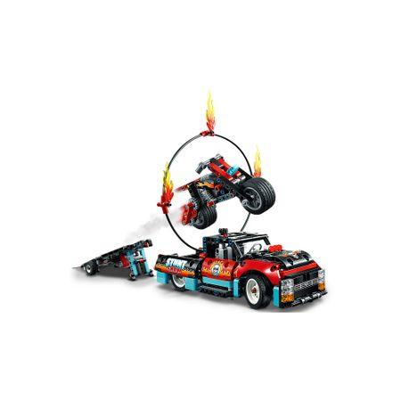 LEGO® Technic: Camion si motocicleta pentru cascadorii 421064
