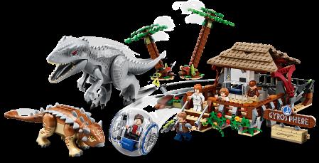 75941 LEGO® Jurassic World: Indominus Rex contra Ankylosaurus1
