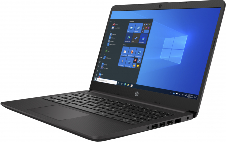 """Laptop HP 240 G8, 14"""", Intel® Celeron® N4020 (pana la 2.7 GHz), 4 GB DDR4, 256 GB SSD, Free DOS, Black [1]"""