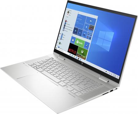 "Laptop HP Envy, 15.6"" Full HD, i7 1165G7 (pana la 4.7 GHz), 8 GB RAM, 512 GB SSD, Touchscreen, Windows 10 Home, Silver [1]"