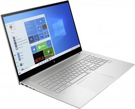 "Laptop HP Envy, 17.3"" Full HD Gorilla Glass, i5 1135G7 (pana la 4.2 GHz), 16 GB RAM, 512 GB SSD, NVIDIA® GeForce MX450 2GB, Windows 10 Home, Silver [2]"