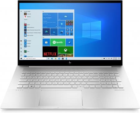 "Laptop HP Envy, 17.3"" Full HD Gorilla Glass, i5 1135G7 (pana la 4.2 GHz), 16 GB RAM, 512 GB SSD, NVIDIA® GeForce MX450 2GB, Windows 10 Home, Silver [0]"