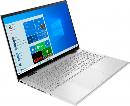 "Laptop HP Pavillion x360, 2in1,  15.6"", Intel® Pentium® Gold (pana la 3.5 GHz), 4 GB DDR4, 256 GB SSD, (2in1), Full HD, TouchScreen, Windows 10 Home, Silver [2]"