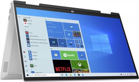 "Laptop HP Pavillion x360, 2in1,  15.6"", Intel® Pentium® Gold (pana la 3.5 GHz), 4 GB DDR4, 256 GB SSD, (2in1), Full HD, TouchScreen, Windows 10 Home, Silver [6]"