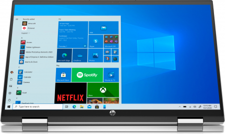 "Laptop HP Pavillion x360, 2in1,  15.6"", Intel® Pentium® Gold (pana la 3.5 GHz), 4 GB DDR4, 256 GB SSD, (2in1), Full HD, TouchScreen, Windows 10 Home, Silver [5]"
