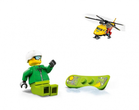 Lego City Great Vehicles Elicopterul ambulanta 601793