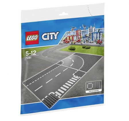 Lego City Intersectie in T si curbe 72810