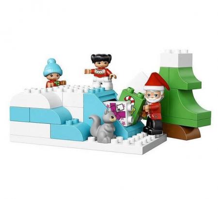Lego Duplo Town Vacanta de iarna cu Mos Craciun 108374