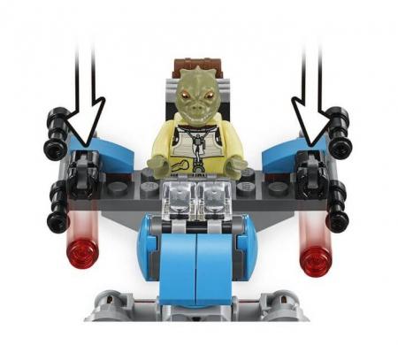Lego Star Wars Motocicleta de viteza Bounty Hunter 751674