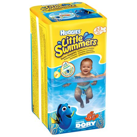 Scutece Baie Huggies, Dory Little Swimmers, nr2-3, 3-8kg, 12buc.