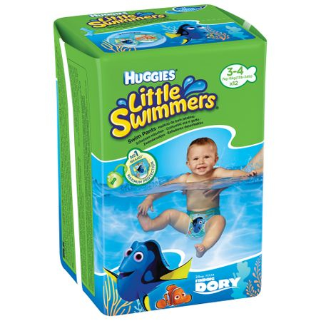 Scutece Baie Huggies, Dory Little Swimmers, nr3-4, 7-15kg, 12buc.