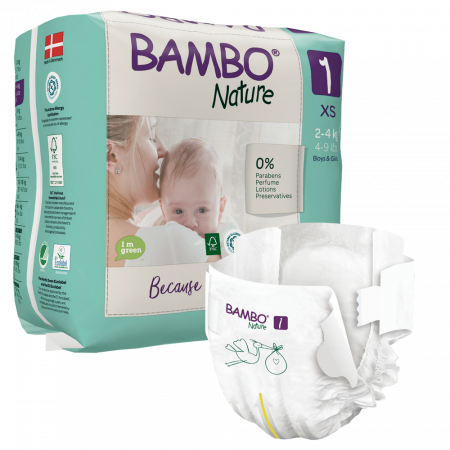 Scutece Bambo Nature, Eco-Friendly, nr1, 2-4 kg, 22 buc0