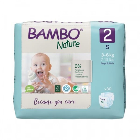 Scutece Bambo Nature, Eco-Friendly, nr2, 3-6 kg, 30 buc2