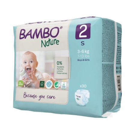Scutece Bambo Nature, Eco-Friendly, nr2, 3-6 kg, 30 buc1