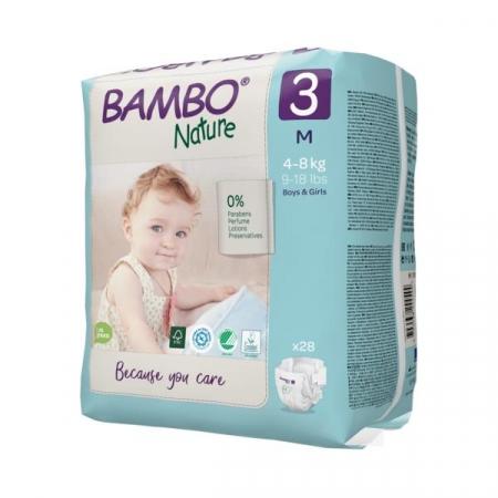 Scutece Bambo Nature, Eco-Friendly, nr3, 4-8 kg, 28 buc1