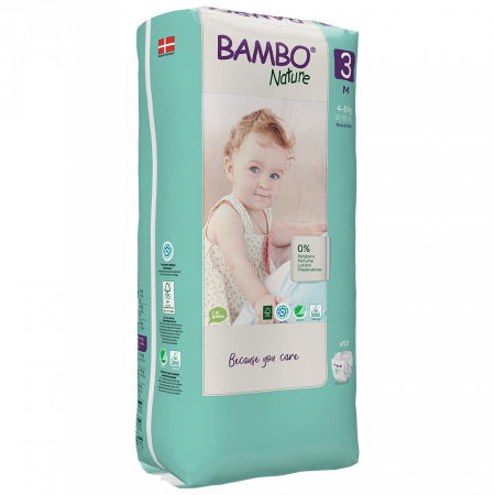 Scutece Bambo Nature, Eco-Friendly, nr3, 4-8 kg, 52 buc1