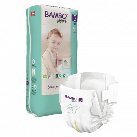 Scutece Bambo Nature, Eco-Friendly, nr3, 4-8 kg, 52 buc