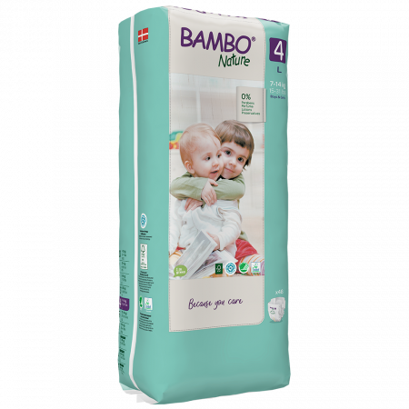 Scutece Bambo Nature, Eco-Friendly, nr4, 7-14 kg, 48 buc1
