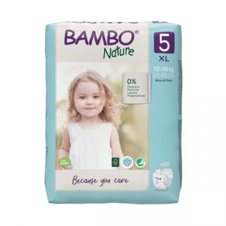 Scutece Bambo Nature, Eco-Friendly, nr5, 12-18 kg, 22 buc [1]
