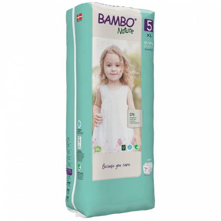 Scutece Bambo Nature, Eco-Friendly, nr5, 12-18 kg, 44 buc1