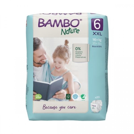 Scutece Bambo Nature, Eco-Friendly, nr6, 16+ kg, 20 buc1