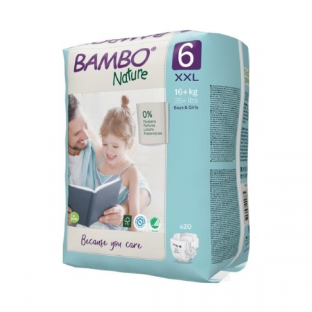 Scutece Bambo Nature, Eco-Friendly, nr6, 16+ kg, 20 buc2