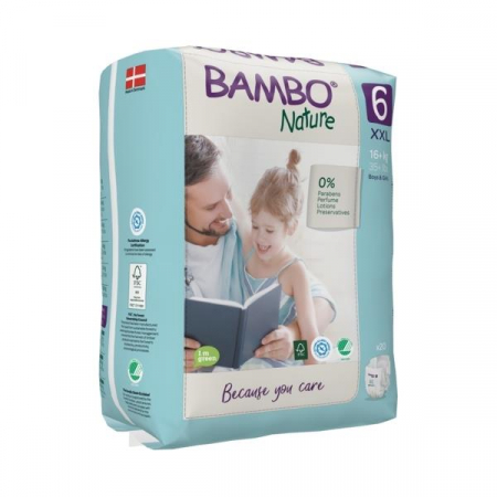 Scutece Bambo Nature, Eco-Friendly, nr6, 16+ kg, 20 buc0