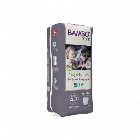 Scutece Chilotel Bambo Dreamy Night Girl, 4-7 ani, 15-35 kg, 10 buc1