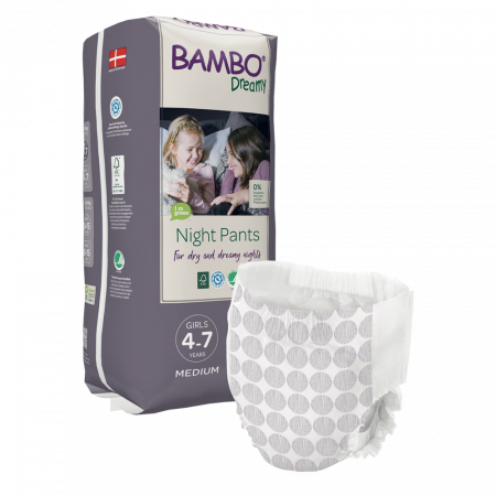 Scutece Chilotel Bambo Dreamy Night Girl, 4-7 ani, 15-35 kg, 10 buc0