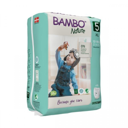 Scutece Chilotel Bambo Nature Eco-Friendly, nr5, 12-18 kg, 19buc0