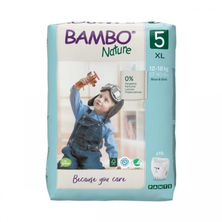 Scutece Chilotel Bambo Nature Eco-Friendly, nr5, 12-18 kg, 19buc1