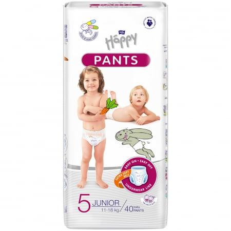Scutece Chilotel Happy Pants Junior 5, 11-18 kg, 40 buc