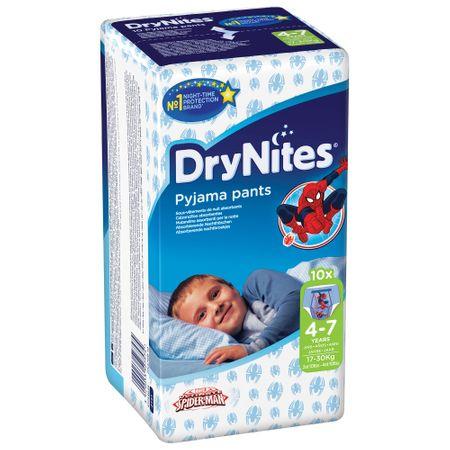 Scutece Chilotel Huggies, DryNites, Boy, 4-7ani, 17-30kg, 10buc.