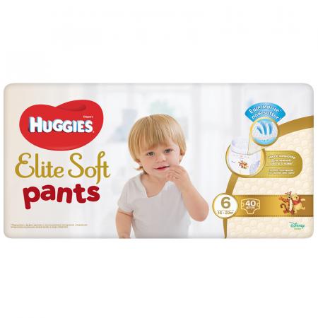 Scutece Chilotel Huggies Elite Soft Pants, nr 6, Giga, 15-25 kg, 38 buc