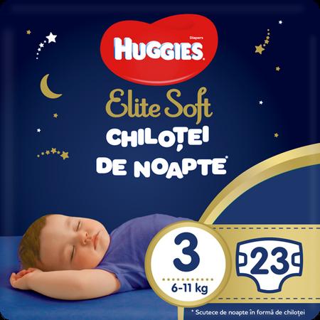 Scutece Chilotel Huggies Overnight, nr3, 6-11kg, 23 buc.