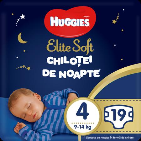 Scutece Chilotel Huggies Overnight, nr4, 9-14kg, 19 buc.