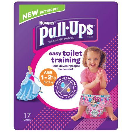 Scutece Chilotel Huggies, Pull-Ups, Girl, nr1-2.5ani, 8-17kg, 17buc.