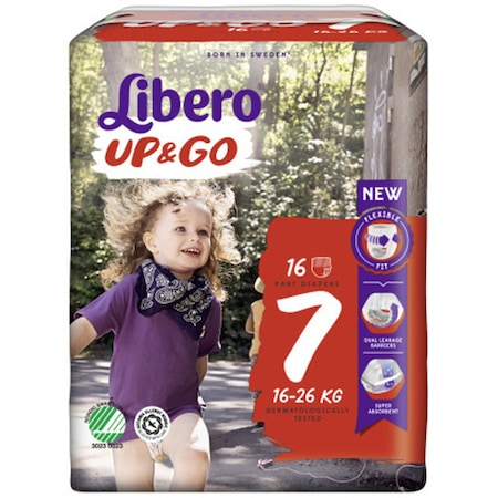 Scutece Chilotel Libero Up&Go Unisex, nr7, 16-26kg, 16 buc