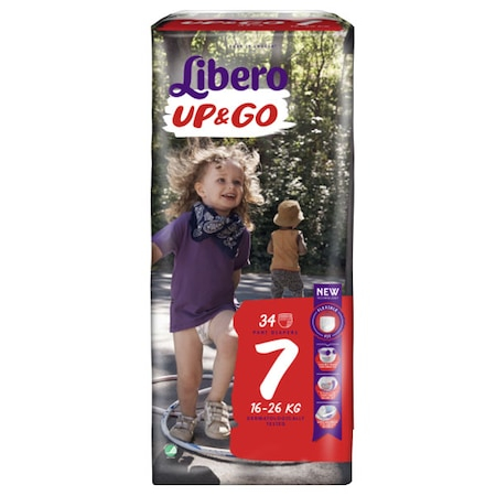 Scutece Chilotel Libero Up&Go Unisex, nr7, 16-26kg, 34 buc