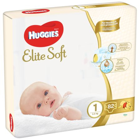 Scutece Huggies Elite Soft, nr1, 3-5kg, 82 buc
