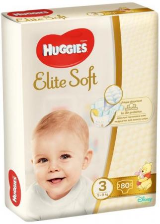 Scutece Huggies Elite Soft, nr3, 5-9kg, 80 buc