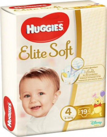 Scutece Huggies Elite Soft, nr4, 8-14kg, 19 buc