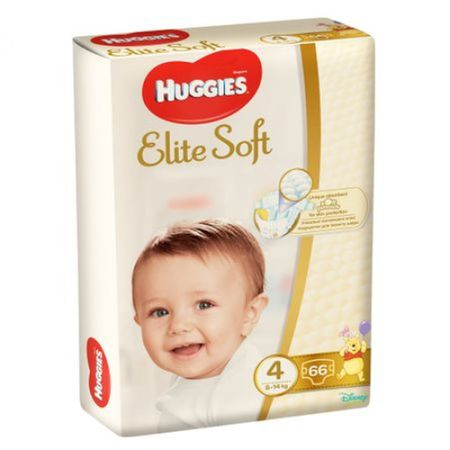Scutece Huggies Elite Soft, nr4, 8-14kg, 66 buc