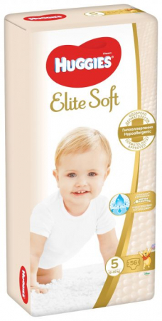 Scutece Huggies Elite Soft, nr5, 12-22kg, 56 buc