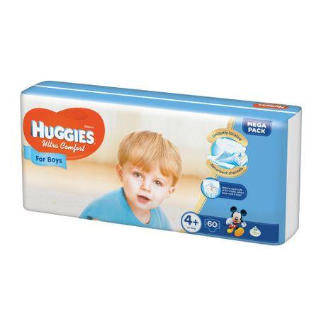 Scutece Huggies Ultra Confort, Boy, nr4+, 10-16kg, 60buc.